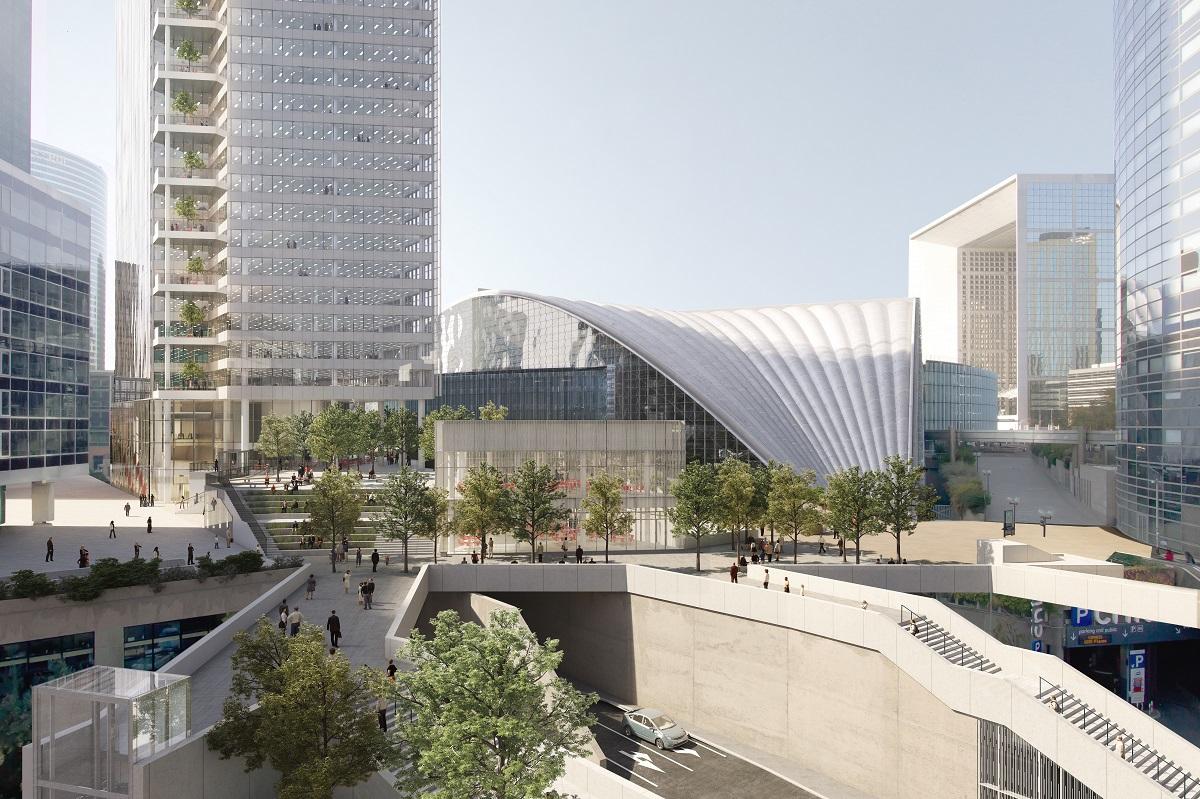 La future tour Trinity vue de Courbevoie